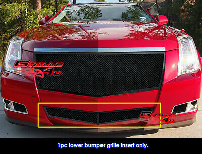 Fits 2008-2013 Cadillac CTS Bumper Black Stainless Steel Mesh Grille Grill