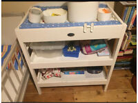 Wooden changing table