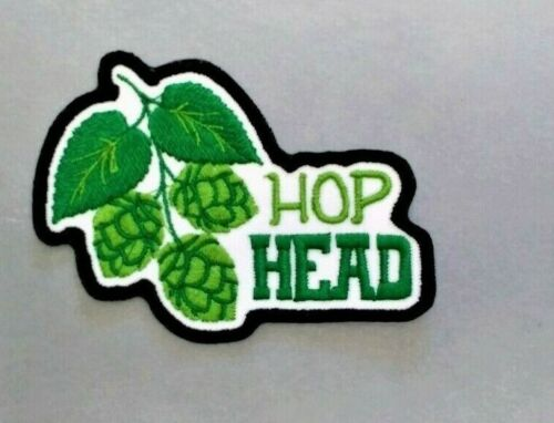 HOP HEAD PATCH BREWMASTER BEER BADGE EMBROIDERED IRON ON TO SEW ON PATCH AP 343