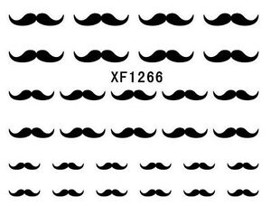 Moustache Nail Art Decal Water Transfer Stickers Choose Design
