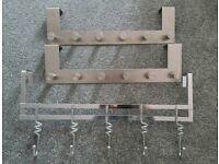 3 x over door hangers hooks