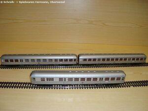 Märklin H0 29542-2 3 Nahverkehrswagen Silberlinge 1./2. + 2.Kl. +Steuerwagen NEU