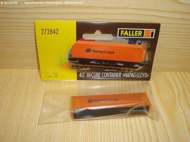 Faller N - 272842 - 40' Hi-Cube Container Hapag-Lloyd - Neuware