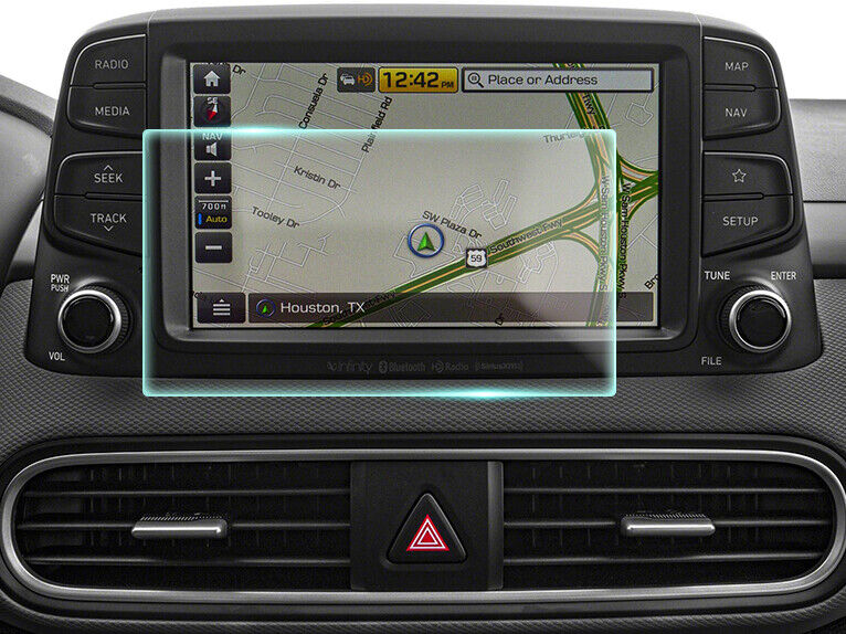 Crystal Clear Screen Protector for 2020 Hyundai Kona Vehicle Navigation