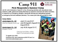 Camp 911 First Responders Summer Camp (weekly camp)