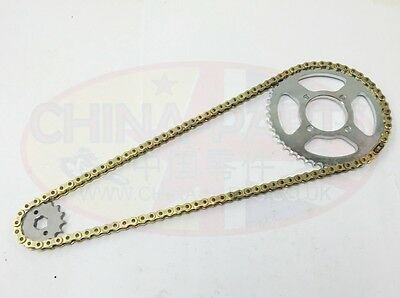 Heavy Duty Chain & Sprockets Set GOLD for WK 125 Sport XY125-11A