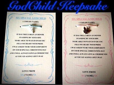 Godchild Gift - Godchild gift keepsake , godparents, personalised, boy or girl Godson/Godaughter
