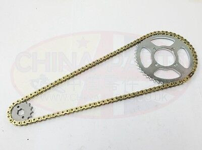 HONDA CBR 125R CHAIN AND SPROCKET KIT HEAVY DUTY 04-10 GOLD