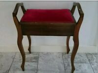 Antique Piano Stool...In good condition just needs braiding re glued