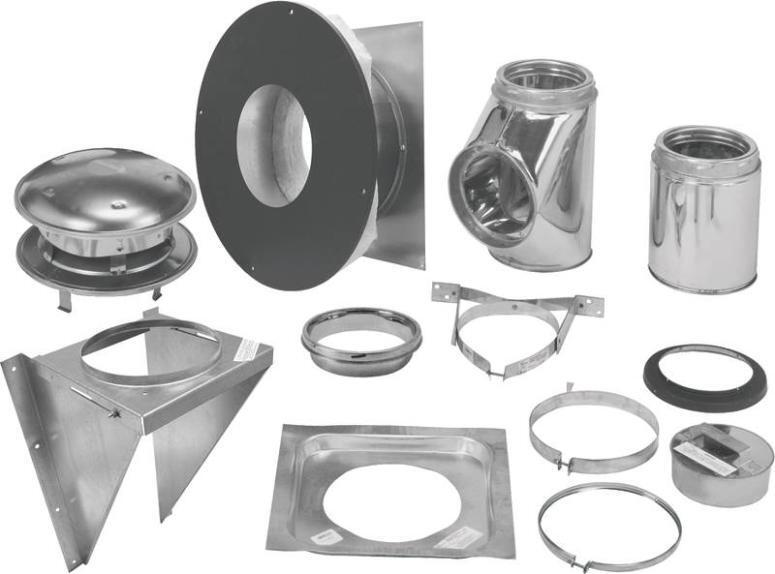 """SELKIRK 206622 6"""" INSULATED SURE-TEMP CHIMNEY PIPE THRU-THE-WALL  KIT 2565752"""