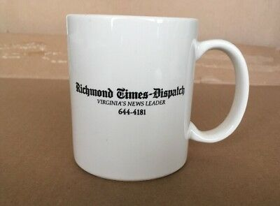 Richmond Times Dispatch Virginia News Coffee Cup Mug