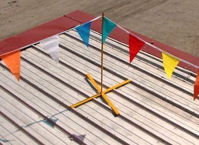 Acro 21000 - Roof Warning Line System - 4 Post 130 Warning Flag - Roofing