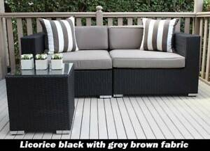 OUTDOOR WICKER LOUNGE FURNITURE EUROPEAN STYLED, BRAND NEW
