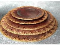 Hand Carved Wooden African Bowls & Serving Platters