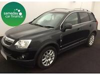 ONLY £213.73 PER MONTH BLACK 2013 VAUXHALL ANTARA 2.2 DIAMOND 4WD DIESEL AUTO