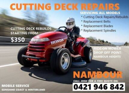 HUSQVARNA RIDE-ON MOWER / CUTTING DECK REPAIR SHOP Mapleton Maroochydore Area Preview