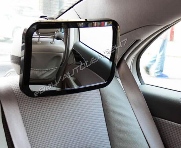 Car Rear Seat Headrest Mount Rectangular Adjustable Large