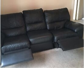 3 Seater Leather Reclining Sofa - Must go by 29 June - only £100