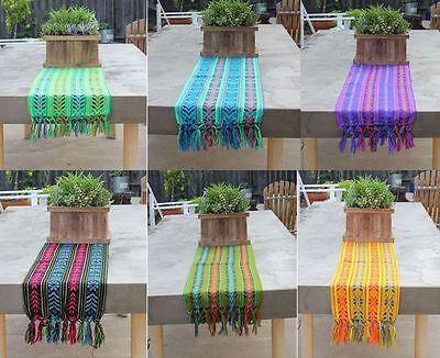 Mexican Rebozo Serape Aztec Table Runner 80