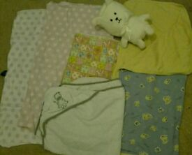 Baby blankets + towel