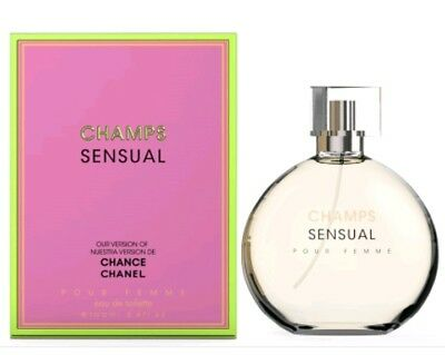 CHAMPS SENSUAL PERFUME -Inspired by CHANEL CHANCE - 3.4oz - FREE 1st CLASS SHIP
