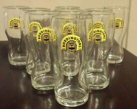 9 Boddingtones 1 pint glasses