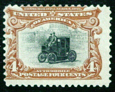 United States, 1901 Pan American Series, Scott 296, Automobile, Perf 12, MH