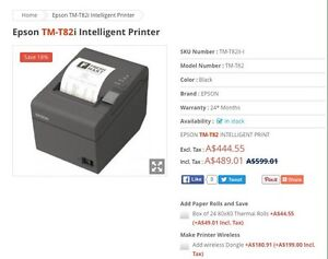 3 x Epson TM-T82i Intelligent Printers Magill Campbelltown Area Preview