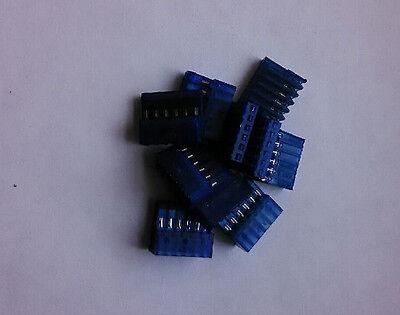 Lot Of 10 Insulation Displacment Header Connectors  6 Pin .100 Spacing