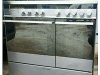 Stainless steel range cooker.