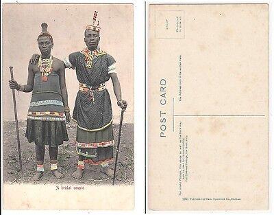 Süd Afrika,Hochzeit Paar,South Africa African Ethnic  bridal couple,Ak um 1915