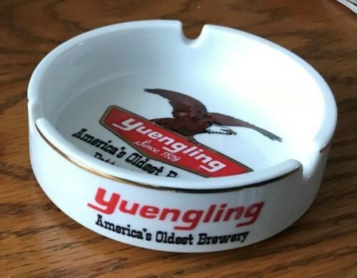 RARE VINTAGE YUENGLING BEER CHINA ADVERTISING ASHTRAY POTTSVILLE PA