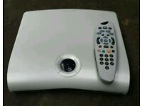 Sky box complete with remote and lead