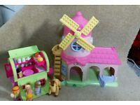 ELC Windmill, Gypsy Caravan and Little People.