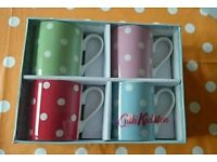 Cath kidston boxed and unused dotty mugs x4