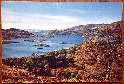 Kyles Of Bute, The Narrows Clyde Pleasure Steamer Vintage Postcard Scotland
