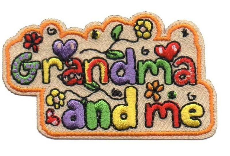 Girl GRANDMA and ME Fun Patches Crests Badges SCOUTS GUIDE Day Trip Visit Event