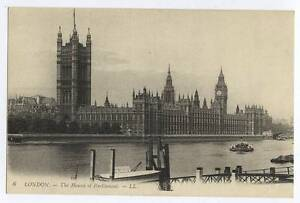 AK97-Louis-Levy-LONDON-LL6-The-Houses-of-Parliament-c1910-Unused-VG-EX