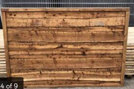 Pressure treated waneylap fence panels heavy duty