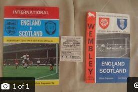 England v Scotland 1965 programme & match ticket / 1971 programme.