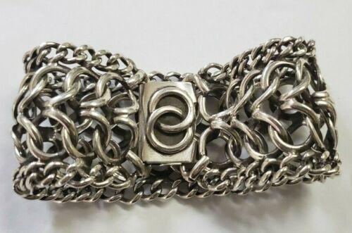 Vintage Danecraft Sterling Silver Heavy Chainlink Bracelet Handmade Signed