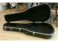 TGI slimline acoustic guitar black hard case