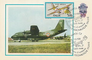 Italy postcard maximum Aviation G. 222 AERITALIA airplane - <span itemprop='availableAtOrFrom'>Bystra Slaska, Polska</span> - Italy postcard maximum Aviation G. 222 AERITALIA airplane - Bystra Slaska, Polska