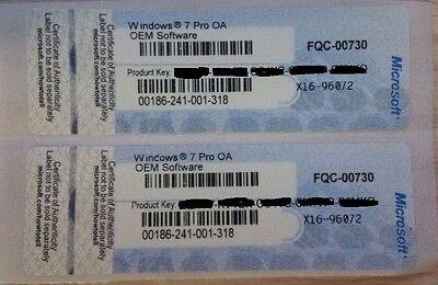 GENUINE HP WINDOWS 7 PRO COA STICKER  32 / 64BIT ORIGINAL LICENSE KEY SCRAP PC