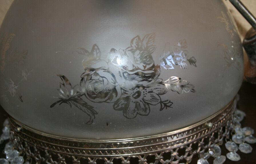Bonita lampara antigua para techo de fino cristal eur - Lamparas de cristal antiguas ...