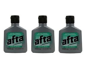 Afta Original After Shave Lotion with Skin Conditioner By Mennen 3 oz (3 Pack)