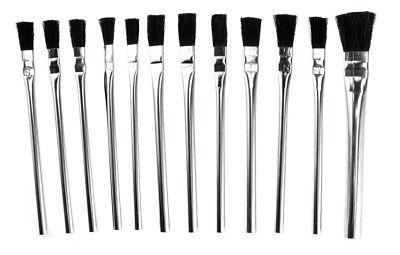 "Assorted 12Pc-6"" Acid Brush Set Cleaning Flux Paint Glue Crafts"
