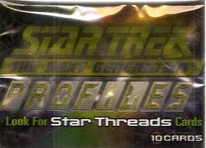 2000 Skybox  Star Trek Profiles Set (82 cards) & Case