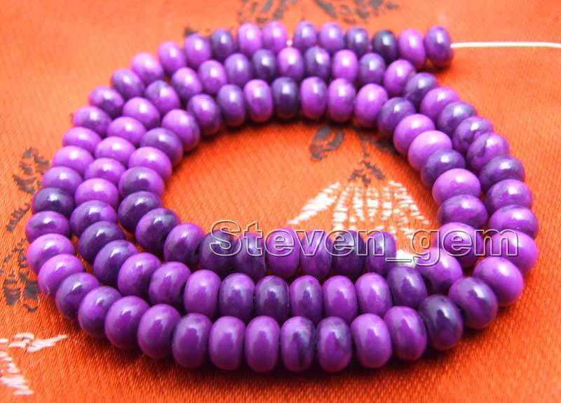 4*6mm Purple Rondelle Natural Sugilite Beads for Jewelry Making DIY Strand 15