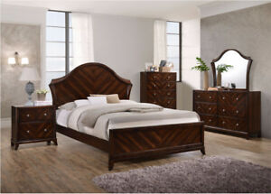 TRADITIONAL BEDROOM SET WITH 8 PCS IN CHERRY
